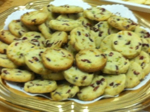 These are my cookies.  Excuse the blurry photo my iPhone took.