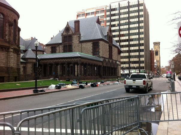 The back side of Trinity Church, Copley Square