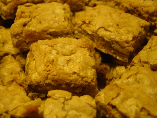 Oatmeal-Apricot Blondies