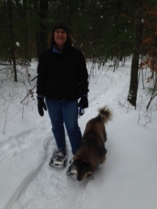 snowshoeingWithBella