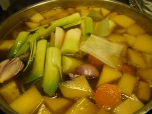 Poached Vegetables