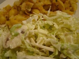 Salad with Baked Pasta