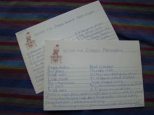 My Recipe Cards from the late 1970's