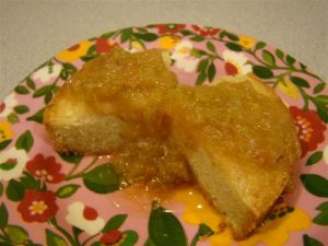 Vistandine with Rhubarb Compote