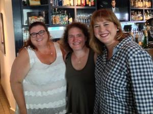 Lunch in Santa Monica with my Dorista pals!  (L-R: Susan Lester, me, and Christy Majors)