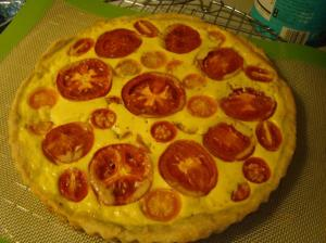 Gerard's Mustard Tart with Tomatoes