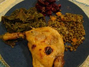 lentil dinner
