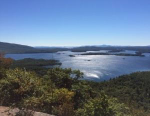 View of Squam Lake from Rattlesnake Mountain (NH)