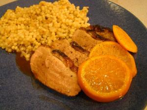 Duck with Israeli Couscous