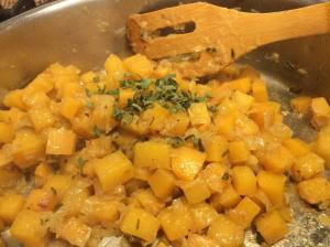 Rutabaga with Onion and Sage